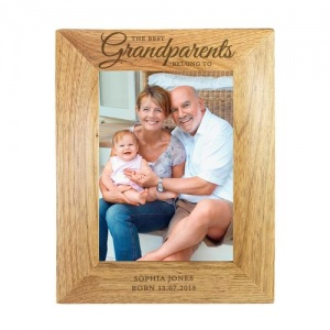 Personalised Wooden Photo Frame - The Best Grandparents