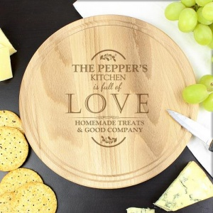 Large Round Chopping Board - Full of Love