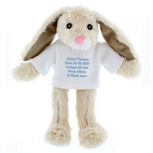 Bunny With Personalised Jumper - Message