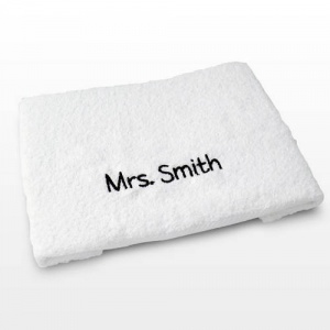 Personalised Hand Towel - White