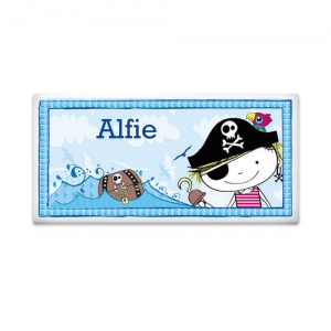 Pirate Letter Door Plaque