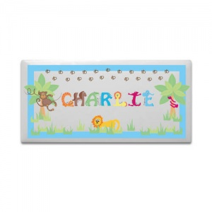 Animal Alphabet Boys Door Plaque