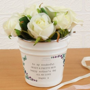 Personalised Porcelain Bucket - Forget Me Not