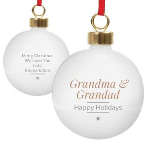 Personalised Christmas Bauble - Classic Gold Star