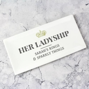Personalised Bone China Trinket Tray - Her Ladyship
