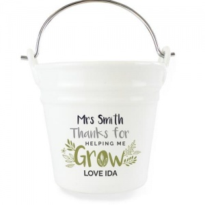 Personalised Porcelain Planter -  Thanks for Helping Me Grow