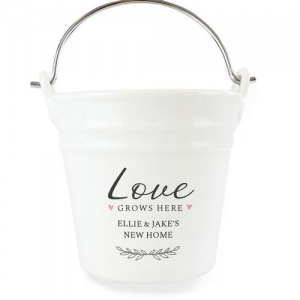 Personalised Porcelain Planter - Love Grows Here