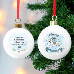 Personalised Bauble - Rocking Horse