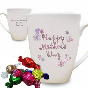 Flowers & Butterflies Happy Mother's Day Latte Mug