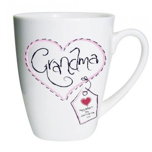 Heart Stitch Latte Mug - Grandma