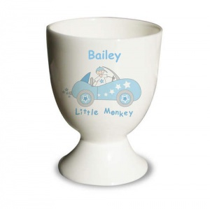 Little Monkey in Car Egg Cup