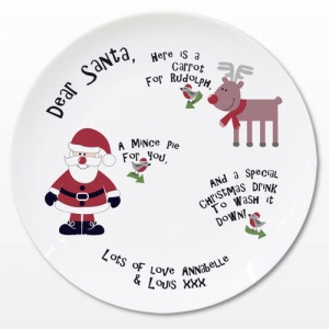 Personalised Santa Mince Pie Plate
