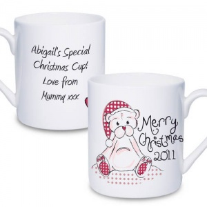 Personalised Christmas Mug - Cute Teddy