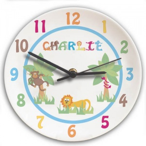 Animal Alphabet Clock - Boy