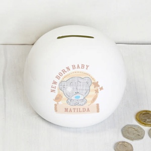 Personalised Tiny Tatty Teddy Money Box