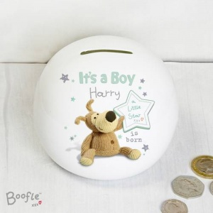 Personalised Boofle Money Box - It's a Boy