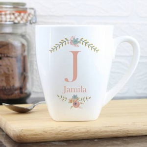 Personalised Latte Mug - Floral Bouquet