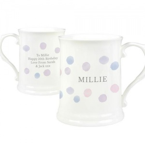 Personalised 15oz Mug - Pink Spot