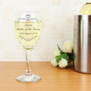 Ornate Swirl Wine Glass