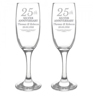 Personalised Anniversary Flutes With Gift Box