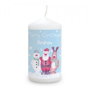 Personalised Candle - Snow Scene