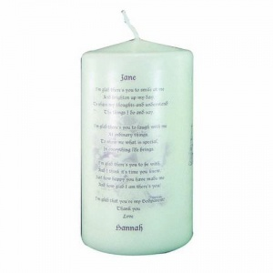 Godparent candle