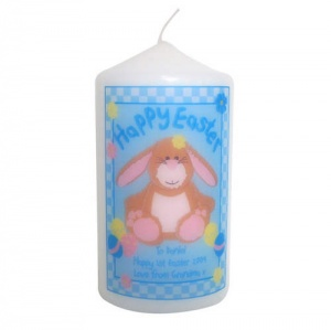 Happy Easter Bunny Candle