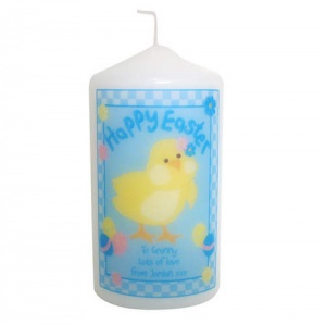 Happy Easter Chick Candle