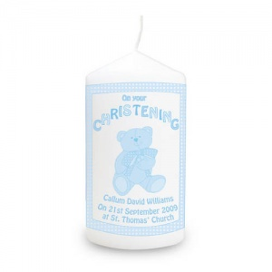 Teddy Christening Candle