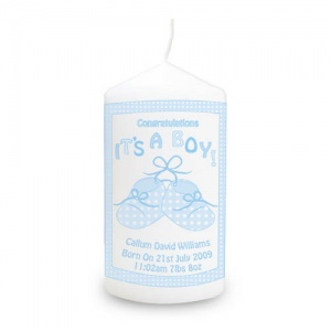 Bootee It's a Girl/Boy Candle