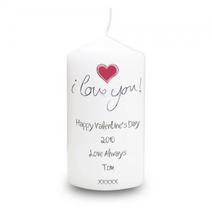 Personalised Candle - I Love You