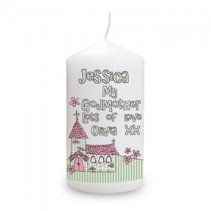 Whimsical Church Candle - Godmother