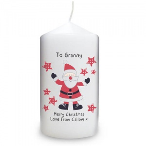 Personalised Candle - Spotty Santa