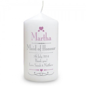 Personalised Candle - Decorative Wedding Female Role