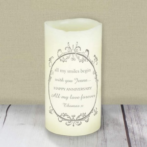 Ornate Frame LED Candle