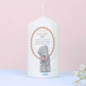 Personalised Tatty Teddy Me to You Flowers Candle For Her