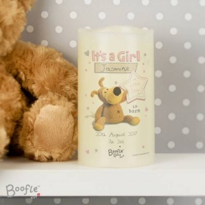 Personalised Boofle Nightlight LED Candle -  It's a Girl