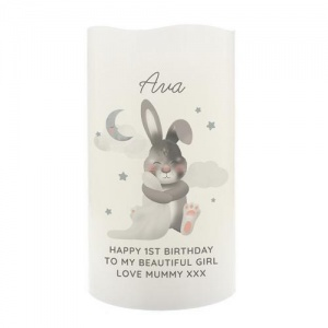 Personalised LED Candle - Baby Bunny