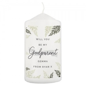 Personalised Pillar Candle - Godparent