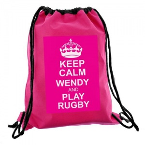 Keep Calm Swim/Kit Bag - Pink