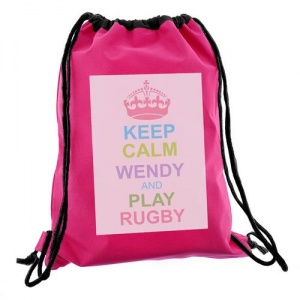 Keep Calm Swim/Kit Bag - Pastel Pink