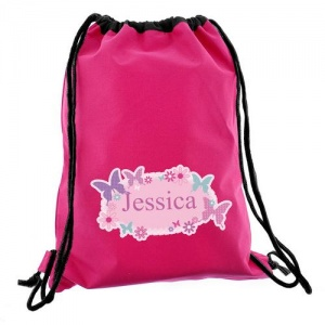 Personalised Swim/Kit Bag - Butterfly