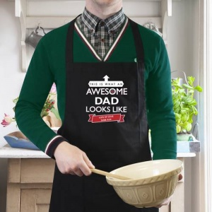 Personalised Black Apron - This is What an Awesome...