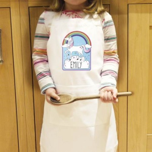 Personalised Kids Apron - Unicorn