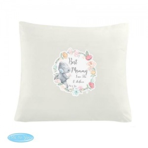 Personalised Cream Cushion Cover - Me to You Floral