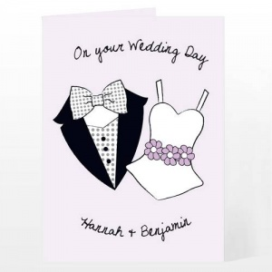 Personalised On Your Wedding Day Card