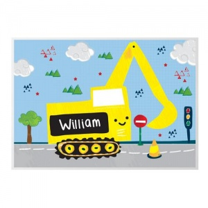 Personalised Placemat - Digger
