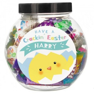 Personalised Sweets Jar - Have A Cracking Easter