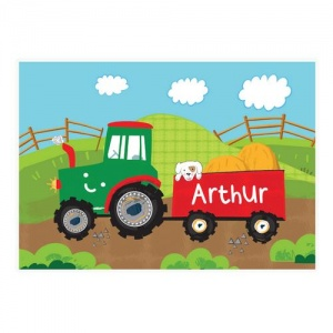 Personalised Placemat - Tractor