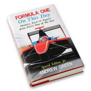 Personalised On This Day Book - Formula 1